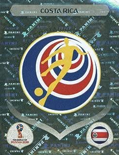 2018 Panini World Cup Stickers Russia #392 Team Logo Costa Rica Futbol Soccer Sticker