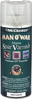 McCloskey 7555 Man O'War Spar Marine Varnish, 11.5-Ounce Spray, Clear Satin