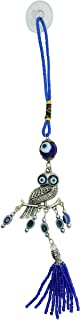 Bravo Team Lucky Blue Evil Eye Hanging Ornament for Protection and Blessing, Owl Charm for Strength and Power, Pendant Decoration for Car, Home and Office, Great Gift