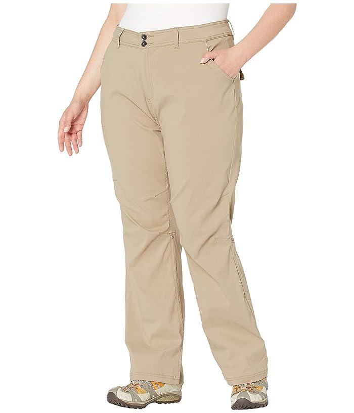 Zappos.com for Prana Plus Size Halle Pants (Dark Khaki) Women's