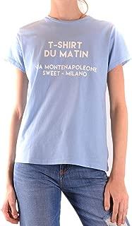 SWEET MATILDA Luxury Fashion Womens MCBI38876 Light Blue T-Shirt | Season Outlet