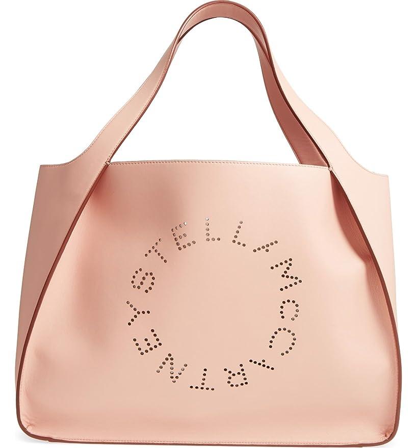 レポートを書く規模適格(ステラ マッカートニー) STELLA MCCARTNEY ミディアムパンチングロゴフェイクレザートート Medium Perforated Logo Faux Leather Tote (並行輸入品)