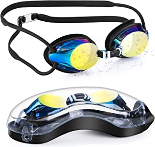 Portzon Swim Goggles, Swimming Goggles for Adult Men...