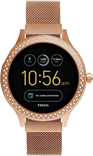 Kartice Compatible with Fossil Venture HR Gen 4 Bands Women's Gen 4 Sport 18mm Replacement Strap for Fossil Gen 3 Q Venture Smartwatch (Rose Gold)