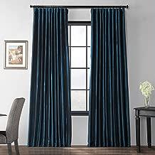 HPD Half Price Drapes Ptch-BO194010-108-DW Blackout Extra Wide Faux Silk Taffeta Curtain, 100 x 108, Glossy Cobalt