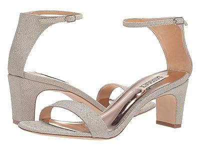 Badgley Mischka Aida (Platino Diamond Textile) High Heels
