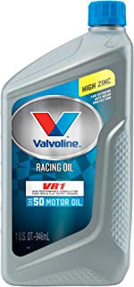 Valvoline VR1 Racing SAE 50 Conventional Motor Oil 1 QT, Case of 6