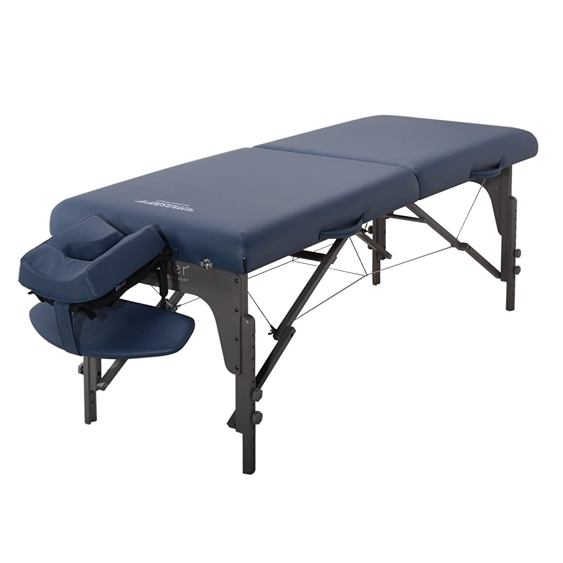 Master Massage 31 inch Montclair LX Pro Portable Massage Table Package with Memory Foam, Royal Blue