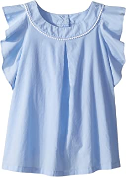 Janie and Jack Ruffle Sleeve Top (Toddler/Little Kids/Big Kids)