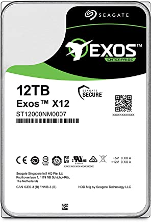 $369 Get Seagate Exos 12TB Internal Hard Drive Enterprise HDD – 3.5 Inch 6Gb/s 128MB Cache for Enterprise, Data Center – Frustration Free Packaging (ST12000NM0007)