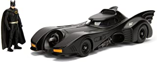"Dc Comic 1989 Batmobile With 2.75"" Batman Metals Diecast Vehicle With Figure, Black"