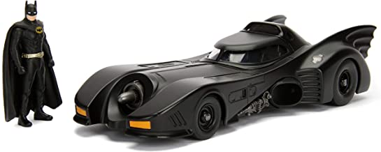 "Jada Dc Comic 1989 Batmobile with 2.75"" Batman Metals Diecast Vehicle with Figure, Black"