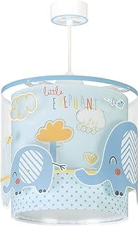 Dalber Little Elephant Lámpara Infantil de Techo Elefante, 60 W, Azul