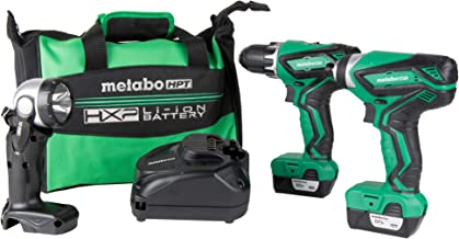 Metabo HPT Cordless Combo Kit, 12V Peak, Compact Driver Drill & Impact Driver,..