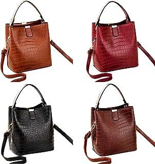 Fanspack Lady Bucket Bag Creative Wild Handle Bag Shoulder Bag Crossbody Purse Handle Bag