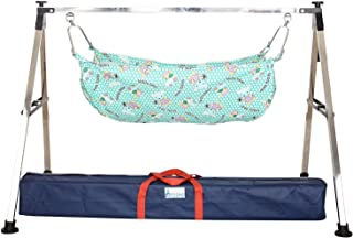 A to Z Hub Baby Cradle N Swing Ghodiyu with Indian Style Hammock Having Mosquito Net for New Born Infants,Swing