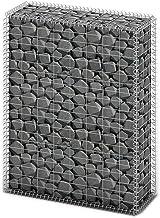 SOULONG - Cesta de Piedra, gavión con Tapas, Alambre galvanizado, protección Visual, 80 × 30 × 100 cm (Largo x Ancho x Alto)