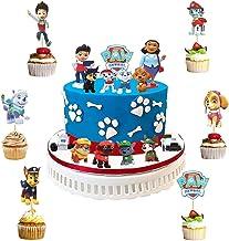 WENTS Caricatura Paw Dog Patrol Cake Topper Mini Juego de Figuras Niños Mini Juguetes Baby Shower Fiesta de cumpleaños Pastel Decoración Suministros 36 Piezas