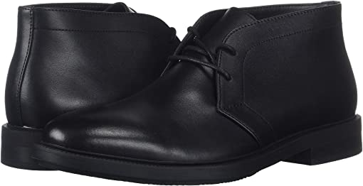 Black Smooth Calf Leather