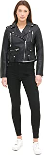 Women's Faux Leather Contemporary Motorcycle Jacket...