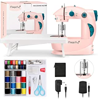 Magicfly Mini Sewing Machine for Beginner, Dual Speed Portable Children Sewing Machine with Extension Table, Light, Sewing...