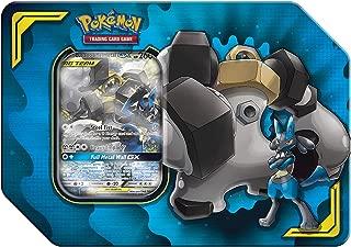 Pokemon TCG: Tag Team Lucario & Melmetal Tin + 4 Booster Pack + 1 Metal Tag Team Gx Marker + 1 of 3 Foil Tag Team Pokémon-GX
