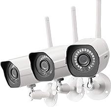 Zmodo Outdoor Camera Wireless, 1080p Security Camera Wireless, 3 Pack Indoor Outside WiFi Cameras Wireless, IR Night Visio...