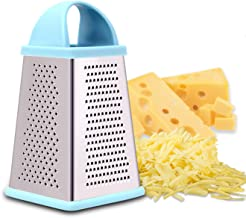 Professional Box Cheese Grater, Graters for Kitchen Stainless Steel and Shredder with 4 Sides, Best for Parmesan Cheese, V...