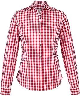 """Almsach Damen Trachten-Bluse rot-weiß kariert """"Maria"""", rot,"""