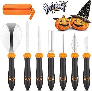 KDKD Pumpkin Carving Kit 7Pcs Halloween Professional Sculpting, Cutting and Carving Knife Supplies for Jack-O-Lanterns,Bal...