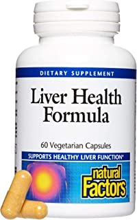 Natural Factors, Liver Health Formula, Nourishing Support for a Healthy Liver with Licorice, Turmeric and Schisandra, 60 c...