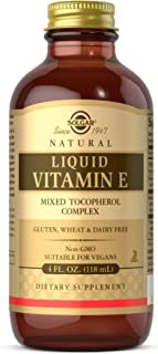 Solgar Liquid Vitamin E (without dropper), 4 fl. oz. - Antioxidant, Skin & Immune System Support, Overall Health - Natural...