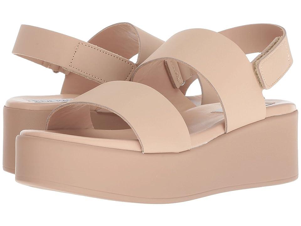 Steve Madden Rachel Platform Sandal (Nude Leather) Women
