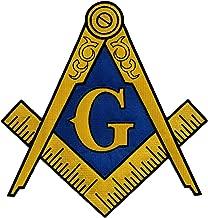 Masonic Logo Large Patch Embroidered Iron-On Freemason Emblem Square Compass