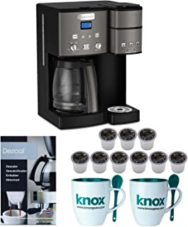 Cuisinart SS-15 BKS 12-Cup Coffee Maker and Single Serve Brewer, Black Includes 9 K-cups, Descaler and 2 Mugs Bundle