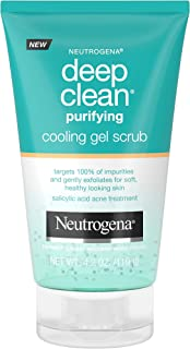 Neutrogena Deep Clean Purifying Cooling Gel and Exfoliating Face Scrub, 4.2 oz