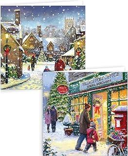 GRANDAD Christmas Card Just For You Grandad Victorian Christmas Scene