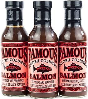 Famous British Columbia Salmon Marinade and BBQ Sauce Three Pack