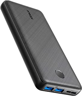 Anker Power Bank, PowerCore Essential 20000 Portable Charger with PowerIQ Technology and USB-C Input, High-Capacity External Battery Compatible with iPhone, Samsung, Huawei, iPad, and More.