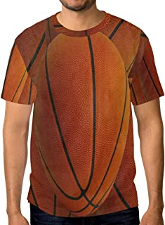 Crewneck Men's T-Shirt Hipster Basketball Sport Classic Humor Novelty Graphic Funny Short Sleeve Tops