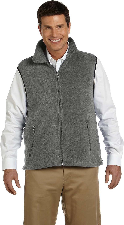 Harriton Adult 8 oz Fleece Vest - Charcoal - L - (Style # M985 - Original Label)