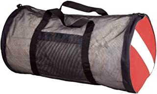 Scuba Max New ScubaMax Dive Flag Mesh Duffel Bag,Black / Red,30