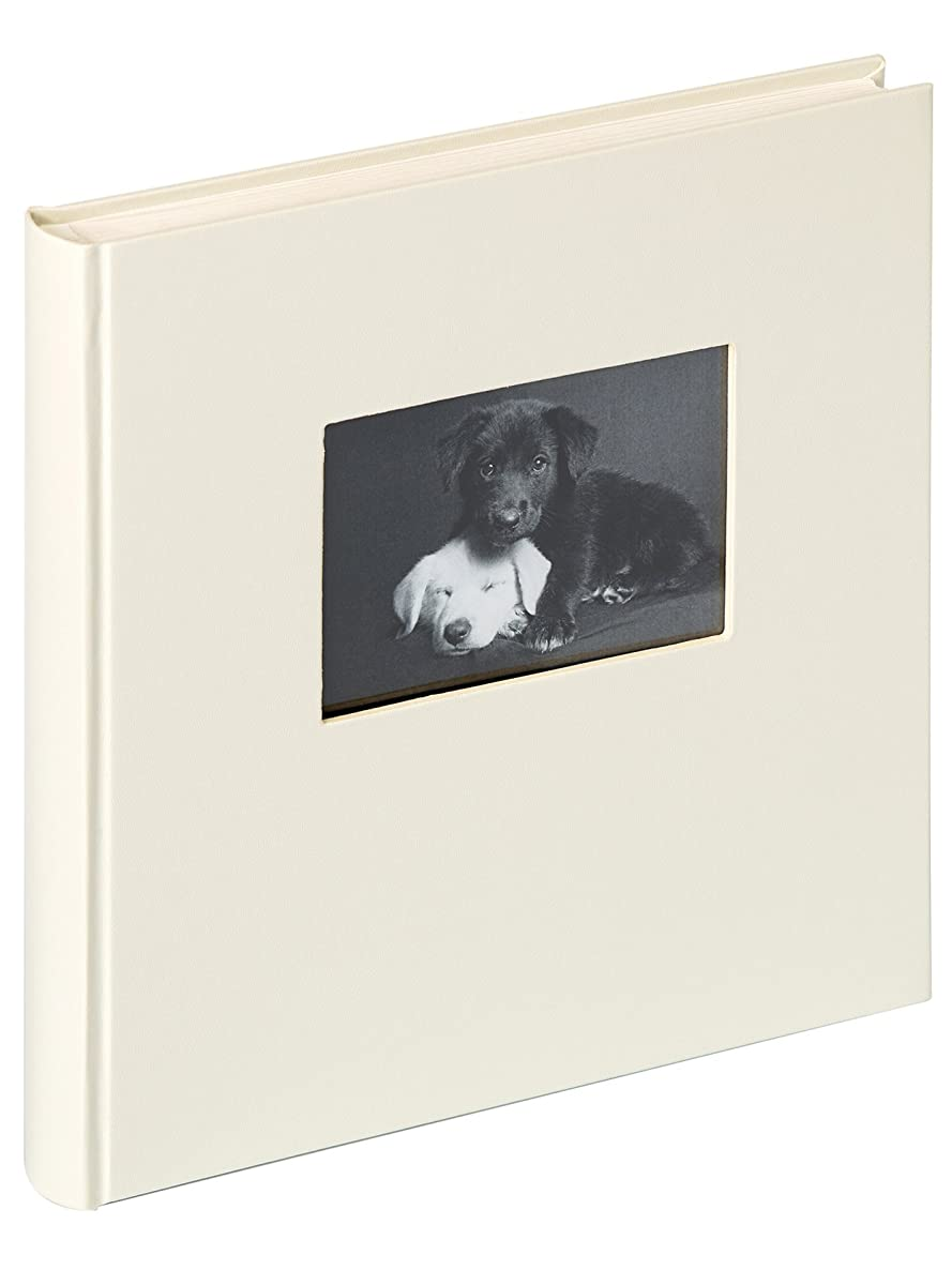 Walther design FA-502-W Charm artificial leather book bound album with die cut for your personal picture, 1175 x 1175 inch (30 x 30 cm), 50 white pages, white