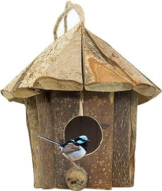 Flying Spoon Wooden Bird House Chickadee Wren Bird House Handmade from Eco Friendly Materials