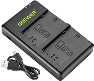 Neewer Micro Dual USB Battery Charger for Sony NP-FZ100 Battery, Compatible with Sony A9 A7III A7RIII Cameras, Versatile C...