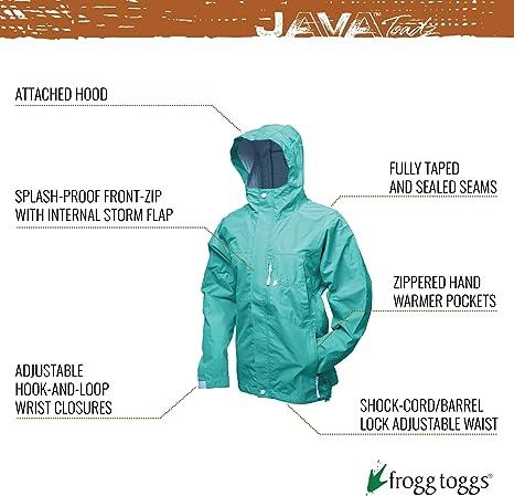 FROGG TOGGS Youth Girls Java Toadz 2.5 Ultra Light Waterproof Breathable Rain Jacket