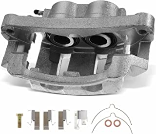 A-Premium Disc Brake Caliper Assembly with Bracket Compatible with Ford Excursion 2000-2005 F-250 Super Duty F-350 Super Duty 1999-2004 Front Right Passenger Side