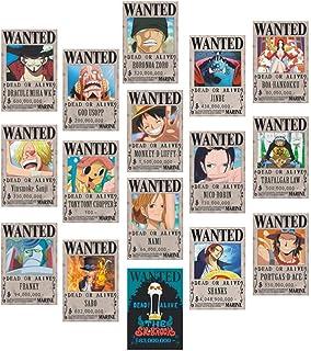 Sgot Lot de 16 affiches Anime One Piece 42 cm × 29 cm, nouveau édition Luffy/Zoro/Boa.Hancock/Nami
