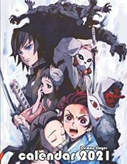 Demon Slayer calendar 2021: Demon slayer calendar /planner contains to Do List, Birthdays, Anniversaries & more to start 2...