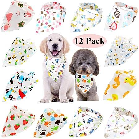 tie on Dog Clothe snap on bandana snaps on Summer bandana Pet Scarf reversible Cookies and Milk Dog Bandana Puppy bandana